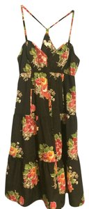 American Eagle Outfitters short dress Black Floral Summer on Tradesy