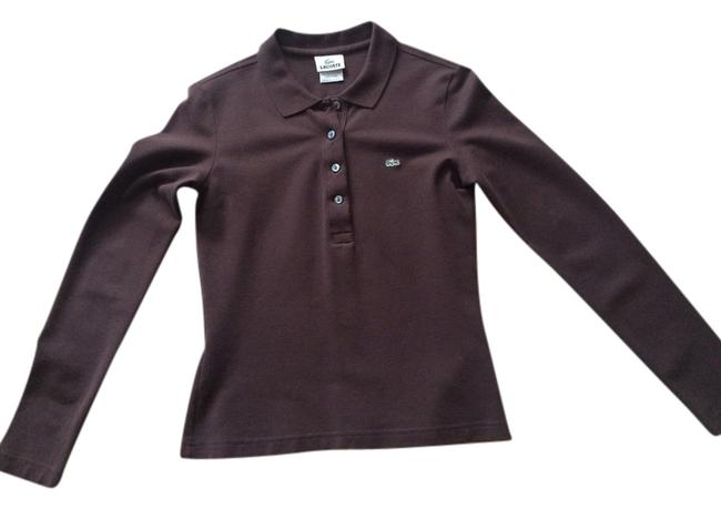 Preload https://item2.tradesy.com/images/lacoste-brown-pique-stretch-tee-shirt-size-4-s-14847436-0-1.jpg?width=400&height=650