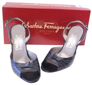 Salvatore Ferragamo Florence Italy Runway Fashion Heels Black Pumps