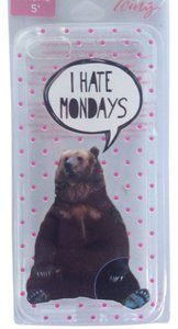 For I phone 5 NWT iPhone 5 soft silicone bear case I hate Mondays