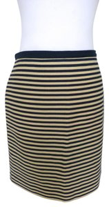 Ann Taylor LOFT Nautical Striped Skirt Blue