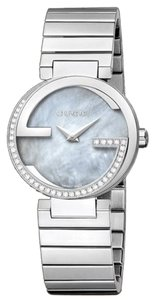 Gucci Gucci Women's Watch - Stainless Steel - Grey Mother of Pearl - 40 Diamonds