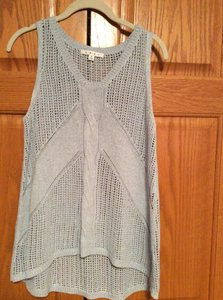 CAbi Net Sweater Vest Top Cream
