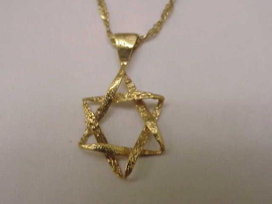 Other 14K Yellow Gold Jewish Star of David Pendant Charm