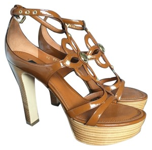 Louis Vuitton Cognac Platforms