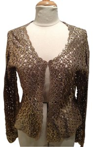 Glam Cashmere Embroidered Embellished Gold Metallic Blazer