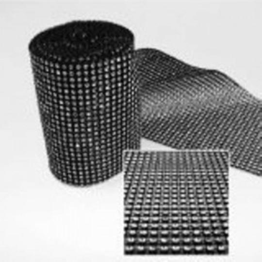 Black Rhinestone Mesh Rolls 30 Yards Reception Decoration