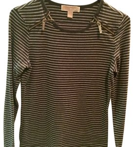MICHAEL Michael Kors T Shirt Light and dark grey stripe.