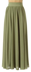 Anthropologie Edme & Esyllte Maxi Maxi Skirt Sage Green
