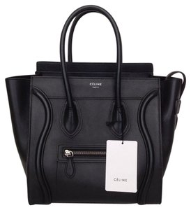 Céline Celine Celine Luggage Tote in Black