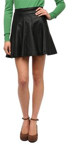 Urban Outfitters Vegan Leather Circle Sparkle & Fade Mini Skirt Black