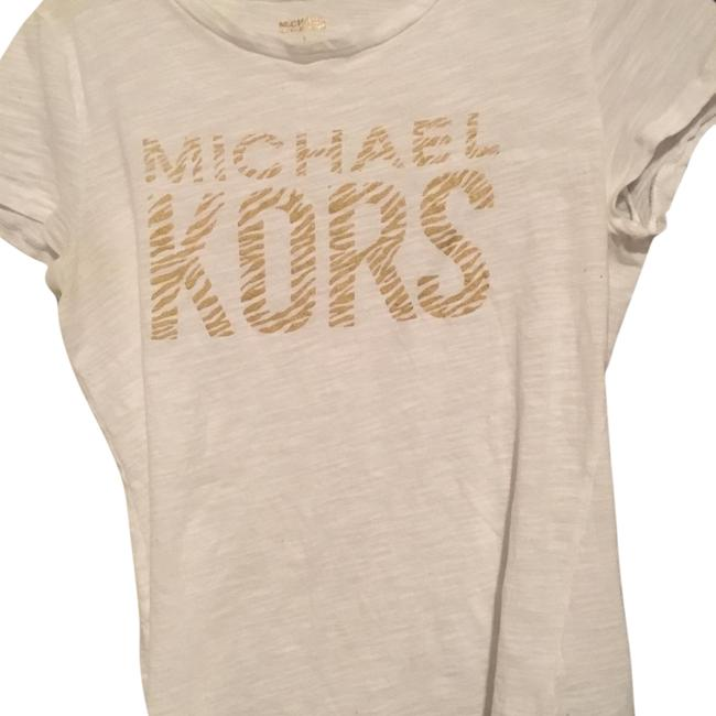 Item - White and Gold Tee Shirt Size 6 (S)