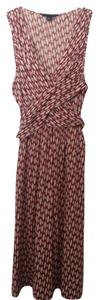 bebe short dress Print - white & red Silk Linen on Tradesy