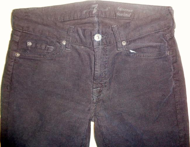 7 For All Mankind Hardware Stamped Rivets Boot Cut Jeans-Dark Rinse