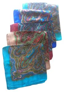 Brand New Beautiful 100% Silk Scarves, Set Of 5