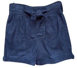 Mango Wool Shorts Brown