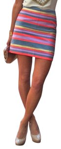 J.Crew Mini Skirt Multi Stripe