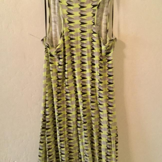 Black , neon yellow green gray Maxi Dress by Threads 4 Thought