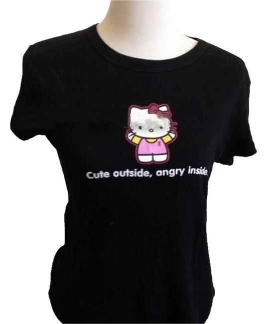 """Item - """"Cute On The Outside Angry On The Inside"""" S/M Tee Shirt Size 6 (S)"""