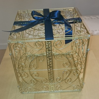 Gold Metal Scroll Wedding Gift Card Box : Gold Metal Wedding Card Box 23% Off #14850676 Wedding Decorations on ...