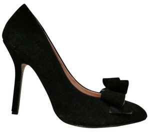 Betsey Johnson Suede Bow Stiletto black Pumps