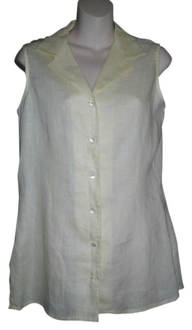 Preload https://item3.tradesy.com/images/laura-ashley-yellow-sleeveless-medium-button-front-casual-shirt-blouse-size-8-m-14850922-0-1.jpg?width=400&height=650
