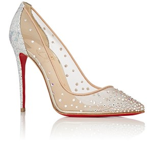 Christian Louboutin Follies Pigalle Strass Nude crystal Pumps