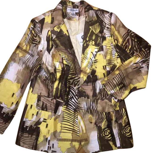 Preload https://item5.tradesy.com/images/yellow-brown-blazer-size-8-m-14851069-0-1.jpg?width=400&height=650