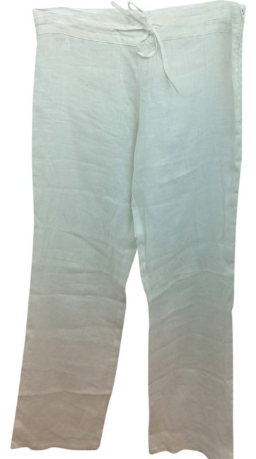 Preload https://item4.tradesy.com/images/white-linen-casual-m-size-8-m-29-30-14851138-0-1.jpg?width=400&height=650