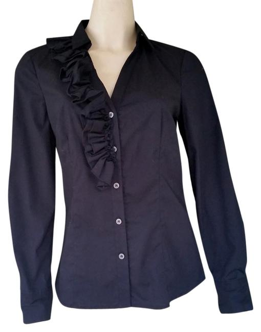 The Limited Ruffle Shirt Top Black