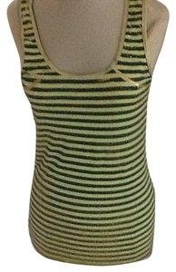 Denny Rose Top Yellow and green with gold