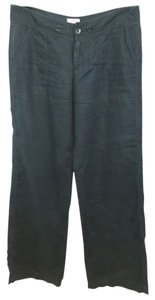 Juicy Couture Black Linen Straight Pants