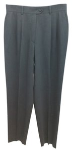 Escada Black Wool Straight Pants