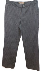 Etro Stripes Gray Wool Straight Pants