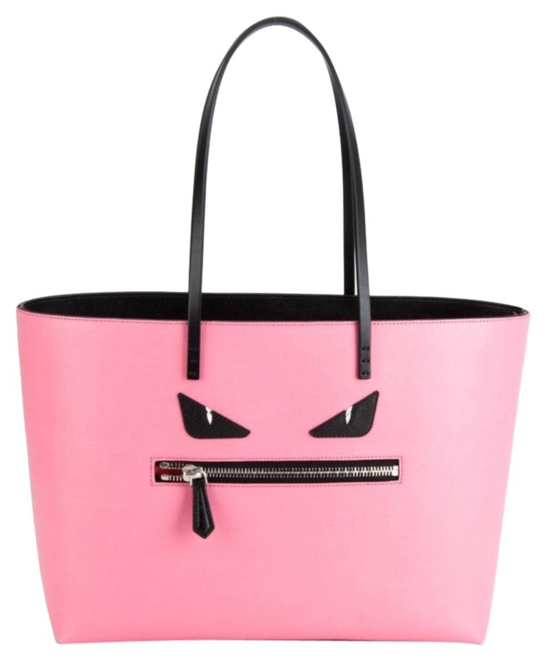 3a6f7bd4a911 Fendi Pink Monster Roll Leather Tote - Tradesy