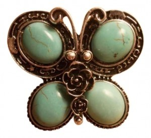 Vintage New Silver Butterfly Adjustable Sizing