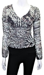 Nathalie Chaize Longsleeve Nylon Top Multi-Color