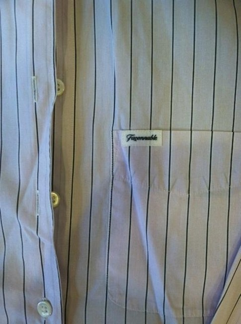 Faonnable Button Down Shirt light pink striped
