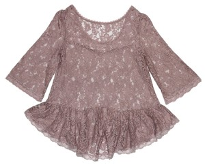 Free People Lace Top Pink