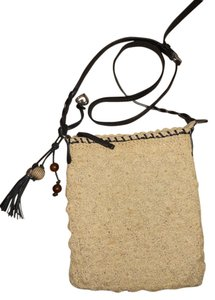 Brighton Leather Straw Cross Body Bag