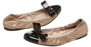 Prada Tan/Black Flats