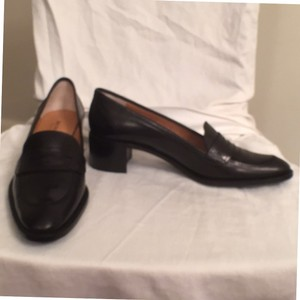 Bruno Magli Leather New Loafers Black Flats