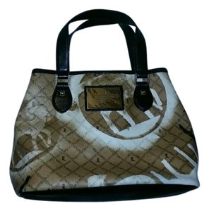 L.A.M.B. Tote in L.A.M.B print brown, white & black