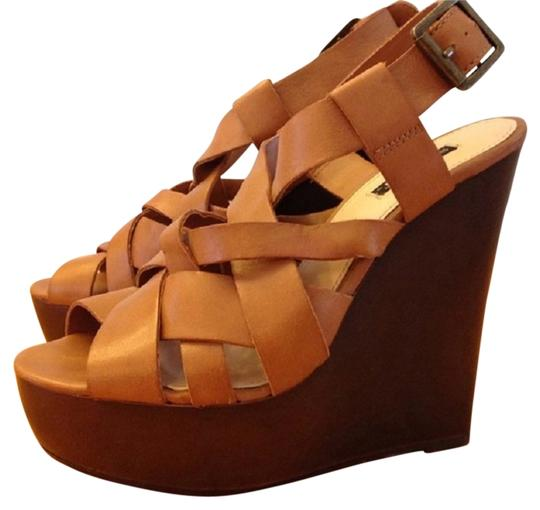 Shoemint Cognac Wedges