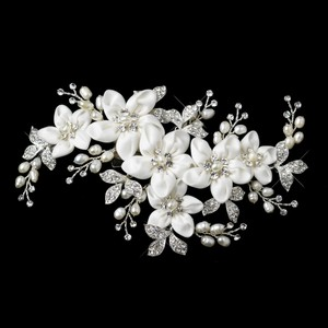 Elegance By Carbonneau Freshwater Pearl Flower Wedding Hair Clip