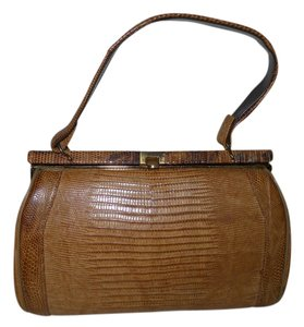 Other Vintage Lizard Skin Satchel in brown