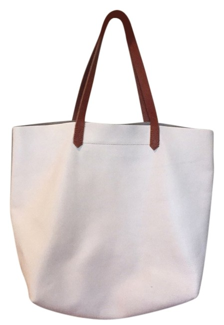 Item - Transport White Leather Tote