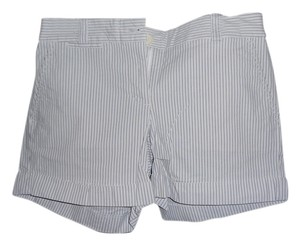 J.Crew Chino Cuffed Shorts Light grey with blue stripe