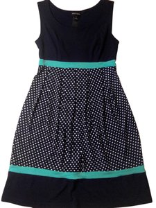 Kalijati short dress blue, navy, white Size Small Polka Dots Empire Waist on Tradesy