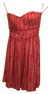 Bar III short dress Red/white on Tradesy